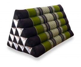 Dreieckskissen als Rückenstütze  *braun / grün*  (extrahoch)