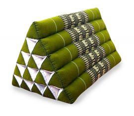 Dreieckskissen als Rückenstütze  *grün / Elefanten*  (extrahoch)