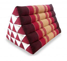Thaikissen, Dreieckskissen ohne Auflage  *rubinrot*  (extrahoch)