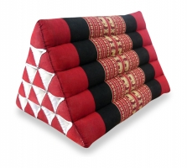 Thaikissen, Dreieckskissen ohne Auflage  *rot / Elefanten*  (extrahoch)