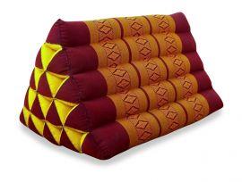 Thaikissen, Dreieckskissen ohne Auflage  *rot / gelb*  (extrahoch)