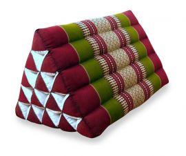Thaikissen, Dreieckskissen ohne Auflage  *rot / grün*  (extrahoch)