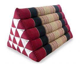 Thaikissen, Dreieckskissen ohne Auflage  *rot / schwarz*  (extrahoch)
