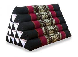 Thaikissen ohne Auflagen  *schwarz / rot*  (extrahoch)