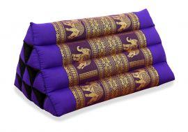 Thaikissen ohne Auflage, Seide   *lila / Elefanten*