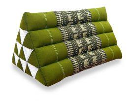 Asiatisches Dreieckskissen ohne Auflage  *grün / Elefanten*