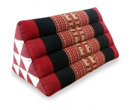 Thaikissen, Dreieckskissen ohne Auflage  *rot / Elefanten*