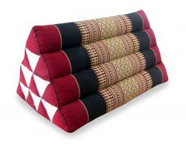 Thaikissen, Dreieckskissen ohne Auflage  *rot / schwarz*