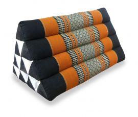 Thaikissen ohne Auflage  *schwarz / orange*