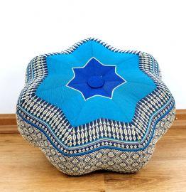 Zafu,  Meditationskissen, kleiner Stern  *blau*