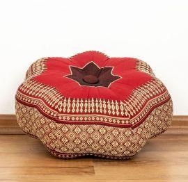 Zafu,  Meditationskissen, kleiner Stern  *rubinrot*