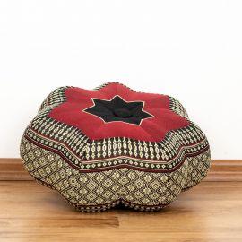 Zafu,  Meditationskissen, kleiner Stern  *schwarz / rot*