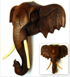 Afrikanischer *Elefantenkopf* aus Holz