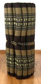 Asiatische Rollmatte  *braun / Elefanten*  Gr.M