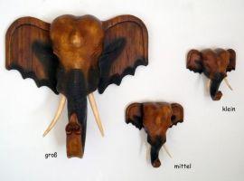 Asiatischer *Elefantenkopf* aus Holz