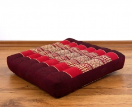 Asiatisches Sitzkissen  *pink-rubinrot*  (klein)