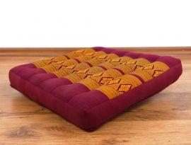 Asiatisches Sitzkissen  *rot / gelb*  (klein)