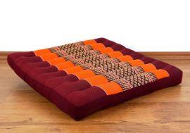 Asiatisches Sitzkissen, Stuhlkissen  *orange*  (groß)
