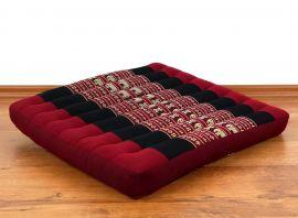 Asiatisches Sitzkissen, Stuhlkissen  *rot / Elefanten*  (groß)