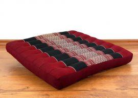 Asiatisches Sitzkissen, Stuhlkissen  *rot / schwarz*  (groß)
