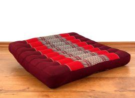 Asiatisches Sitzkissen, Stuhlkissen  *rubinrot*  (groß)