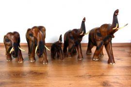 Elefanten aus Holz *Glückselefanten*