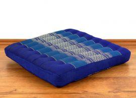 Kapok Bodensitzkissen, Stuhlkissen  *blau*  (groß)