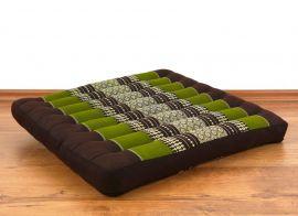 Kapok-Kissen, Meditationskissen  *braun / grün*  (groß)