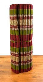 Kapok Rollmatte, Thaimatte  *rot / grün*  Gr.L