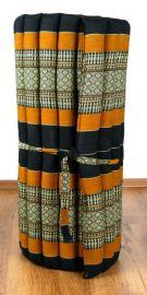 Kapok Rollmatte, Thaimatte  *schwarz / orange*  Gr.M
