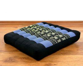 Kapok Sitzkissen, Bodenkissen  *blau / Elefanten*  (klein)