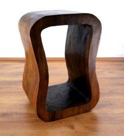 Asiatischer Loungetisch, Massivholzpodest  *braun*