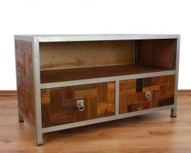 Java, kleines Sideboard, TV-Bank aus *Teak und Metall*  Nr.377