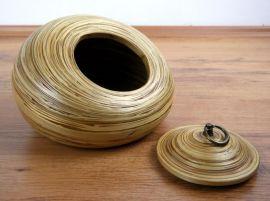 Obst-, Gebäck - Schale  *Bambus*  (mit Deckel)