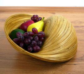 Obst-, Gebäck - Schale  *Bambus*  (rund)