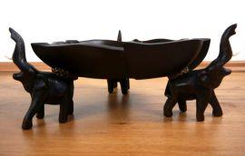 Obst-, Gebäck - Schale  *Elefanten mit Lotusblatt*