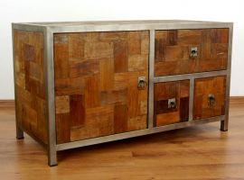 Java, Sideboard, TV-Bank aus *Teak und Metall*  Nr.329