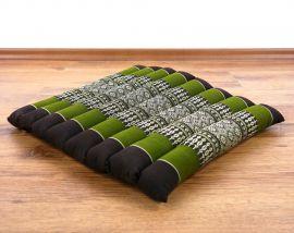 Steppkissen, Stuhlauflage  *braun / grün*  (klein)