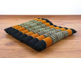 Steppkissen, Yogakissen  *schwarz / orange*  (klein)