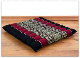 Steppkissen, Yogakissen  *schwarz / rot*  (klein)