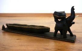 Teelichthalter *Elefant mit Schale*
