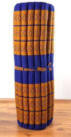 Thai Rollmatte  *blau / gelb*  Gr.L