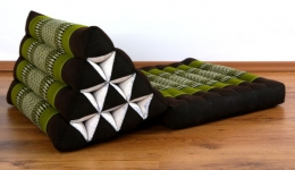 Thaikissen, Dreieckskissen *braun / grün*