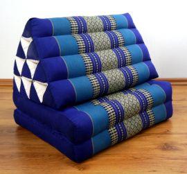 Thaikissen, Dreieckskissen, 2 Sitzauflagen  *blau*