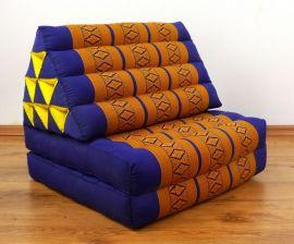 Thaikissen, Dreieckskissen, 2 Sitzauflagen  *blau - gelb*