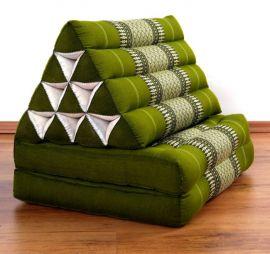 Thaikissen, Dreieckskissen, 2 Sitzauflagen  *grün*