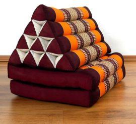 Thaikissen, Dreieckskissen, 2 Sitzauflagen  *orange*