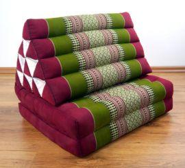 Thaikissen, Dreieckskissen, 2 Sitzauflagen  *rot - grün*