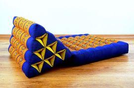 Thaikissen, Dreieckskissen *blau / gelb*