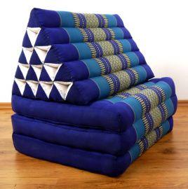 Thaikissen, Dreieckskissen  *blau*  (XXL-Höhe)
